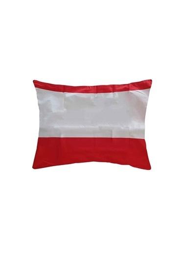 Maki %100 Pamuklu 2 Adet 50x70 Yastık Kılıfı Soho Kırmızı Kırmızı